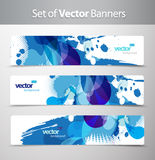 Set of abstract colorful web headers. Stock Image