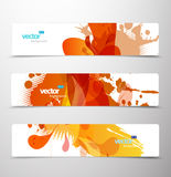 Set of abstract colorful web headers. Royalty Free Stock Photo