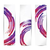 Set of abstract colorful web headers and cards Stock Photography