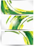 Set of abstract colorful web headers and cards Royalty Free Stock Image