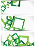 Set of abstract colorful web headers and cards Stock Photos