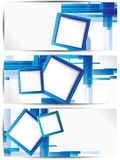 Set of abstract colorful web headers and cards. This is file of EPS10 format Royalty Free Stock Photos