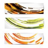 Set of abstract colorful web headers and cards. This is file of EPS10 format Stock Images