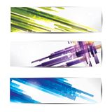 Set of abstract colorful web headers and cards Royalty Free Stock Photos