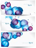 Set of abstract colorful web headers and cards Stock Photo