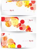 Set of abstract colorful web headers and cards Royalty Free Stock Photography