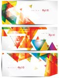Set of abstract colorful web headers and cards Stock Image
