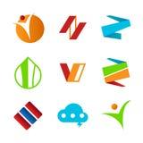 Set of Abstract Corporate Symbols Design. Set of Abstract Corporate Symbols Vector Illustration Graphic Design Stock Image