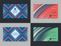 Set of abstract creative Business card design layout template with colorful background. Modern Backgrounds. Royalty Free Stock Images