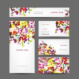 Set of abstract creative business cards design Royalty Free Stock Photography