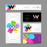 Set of abstract creative business cards design Royalty Free Stock Image