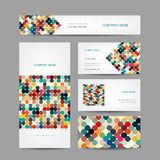 Set of abstract creative business cards design Royalty Free Stock Images