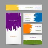 Set of abstract creative business cards design Royalty Free Stock Photos