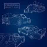 Set abstract creative concept  background of 3d car model. Sports car. Set abstract creative concept  background of 3d car model. Sports car Royalty Free Stock Photography