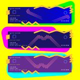 Set abstract creative design poster for creative event with colorful gradient. Template futuristic cover. Flat vector illustration. EPS 10 Royalty Free Stock Image