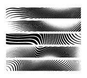 Set of abstract creative Zebra horizontal banner background. Header long Royalty Free Stock Photography