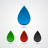 Set of abstract 3d colorful drops Stock Images