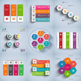Set of abstract 3D digital business Infographic Royalty Free Stock Image