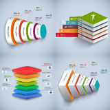 Set of Abstract 3D digital business Infographic. EPS10 Royalty Free Stock Images