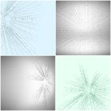 Set of Abstract 3D hexagonal backgrounds, vector Royalty Free Stock Image