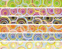 Set of abstract decor banner Stock Images