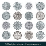 Set of abstract design element. Round mandalas in vector. Stock Image