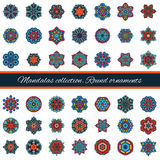 Set of abstract design element. Round mandalas in vector.  Royalty Free Stock Photos