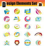 Set of Abstract Design Elements Stock Photography