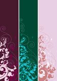 Set of abstract design elements. Set of abstract ornaments in different color. Vector illustration with floral design elements Royalty Free Stock Photos