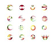 Set of abstract design elements Stock Photos