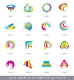 Set of Abstract Design Elements or Icons. Royalty Free Stock Photography