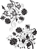 Set of abstract design floral elements Stock Photo