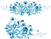 Set of abstract design floral elements Stock Images