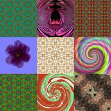 Set of abstract digitally rendered patterns royalty free stock image