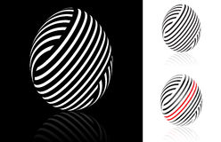 Set of abstract Easter egg Stock Photography