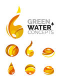 Set of abstract eco water icons, business logotype Stock Images