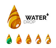 Set of abstract eco water icons, business logotype Royalty Free Stock Image