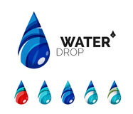 Set of abstract eco water icons, business logotype Stock Photography