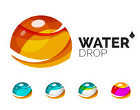 Set of abstract eco water icons, business logotype Royalty Free Stock Images