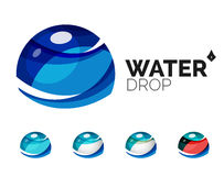 Set of abstract eco water icons, business logotype Stock Image