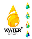 Set of abstract eco water icons, business logotype Royalty Free Stock Photos