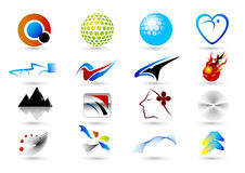 Set of abstract elements for design-part4 Royalty Free Stock Images
