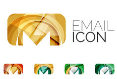Set of abstract email icon, business logotype Royalty Free Stock Image