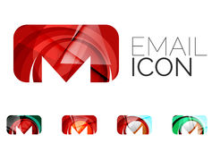 Set of abstract email icon, business logotype Royalty Free Stock Photos