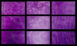 Violet templates Royalty Free Stock Photography