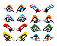 Set of abstract eyes Stock Images