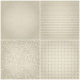 Set of Abstract Faded Geometric Pattern Royalty Free Stock Photos