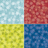 Set of abstract floral background Stock Photos