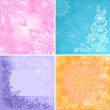 Set abstract floral backgrounds Royalty Free Stock Photography