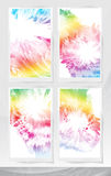 Set of abstract floral backgrounds. Royalty Free Stock Photos